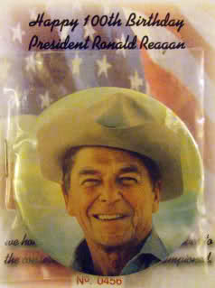 Ronald Reagan button image