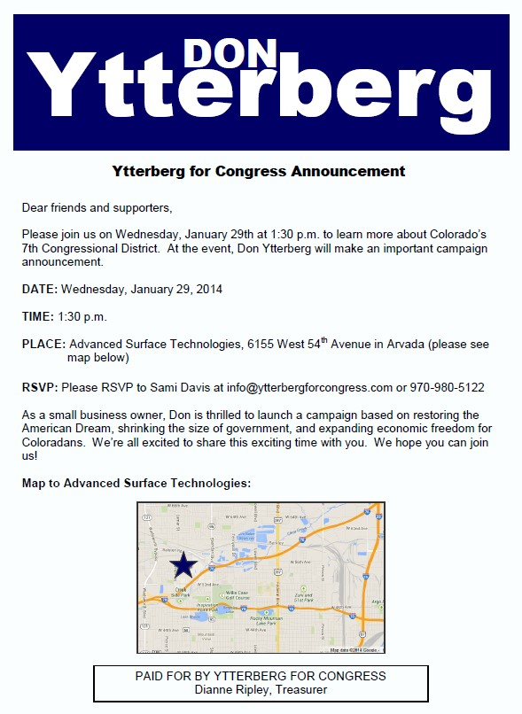 ytterberg for congress announcement
