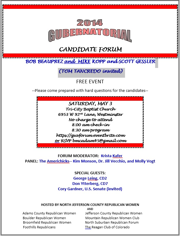 May Governor Forum