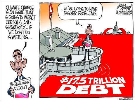 debt vs global warming