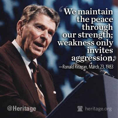 Reagan peace through strength