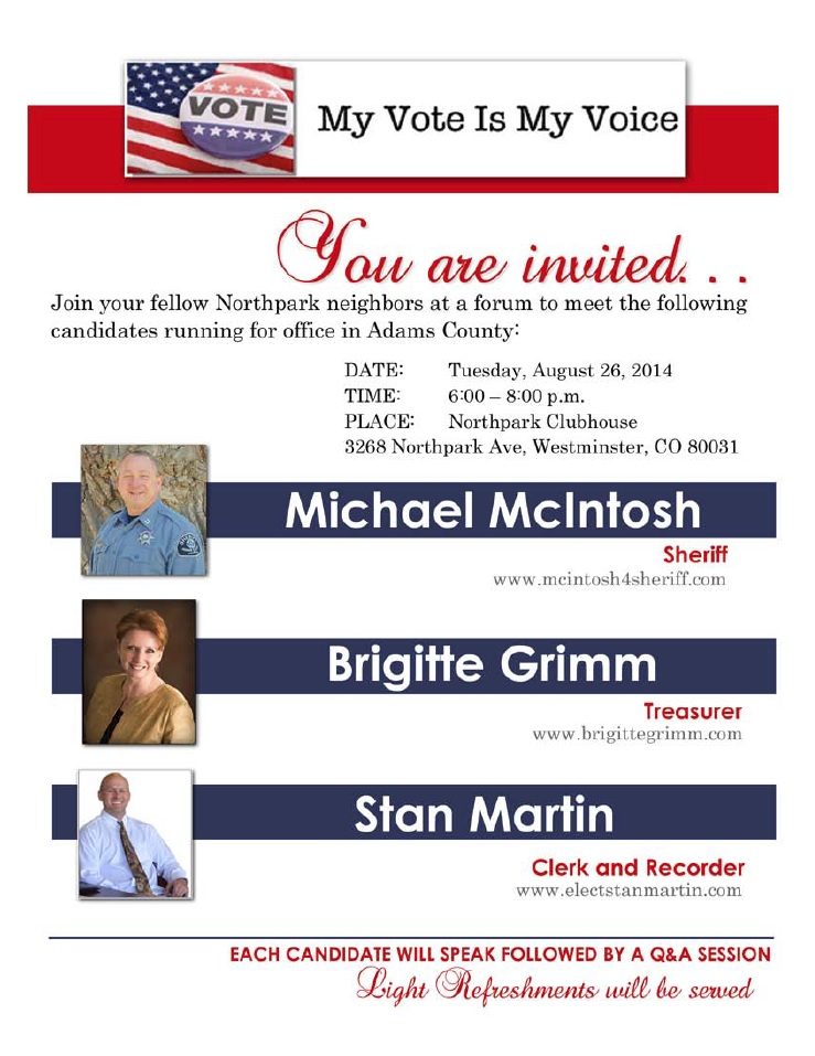 My Voice is my vote candidate forum