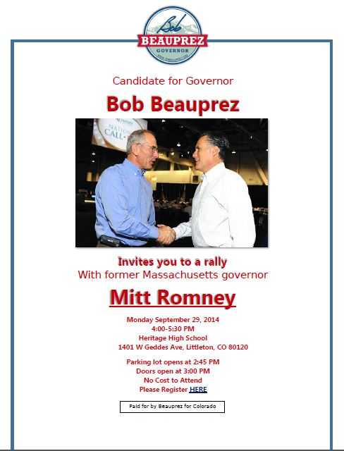 Beauprez-Romney Rally