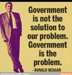 reagan govt is not the solution but the problem
