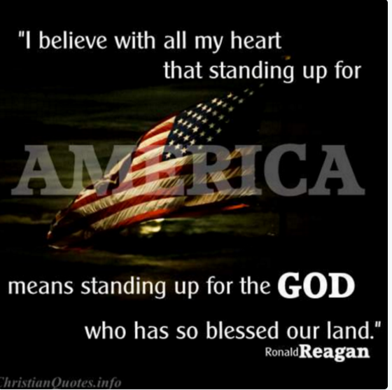 Reagan Standing up for America means God