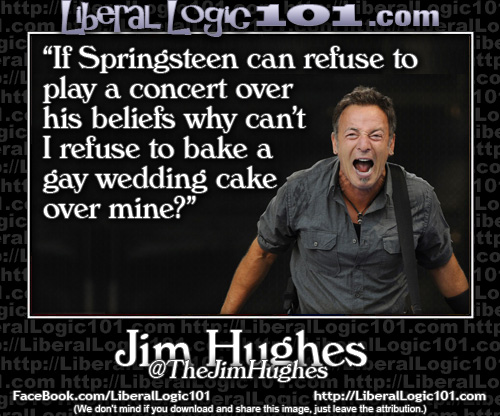 liberal-logic Bruce Springsteen can cancel a concert over his beliefs