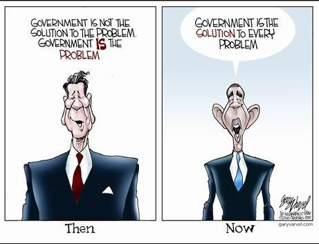 Reagan vs Obama Govt is the problem