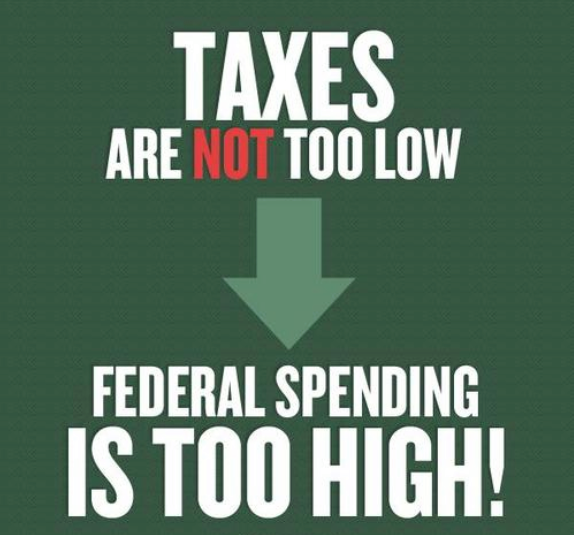 Taxes are not too low--Spending is too high