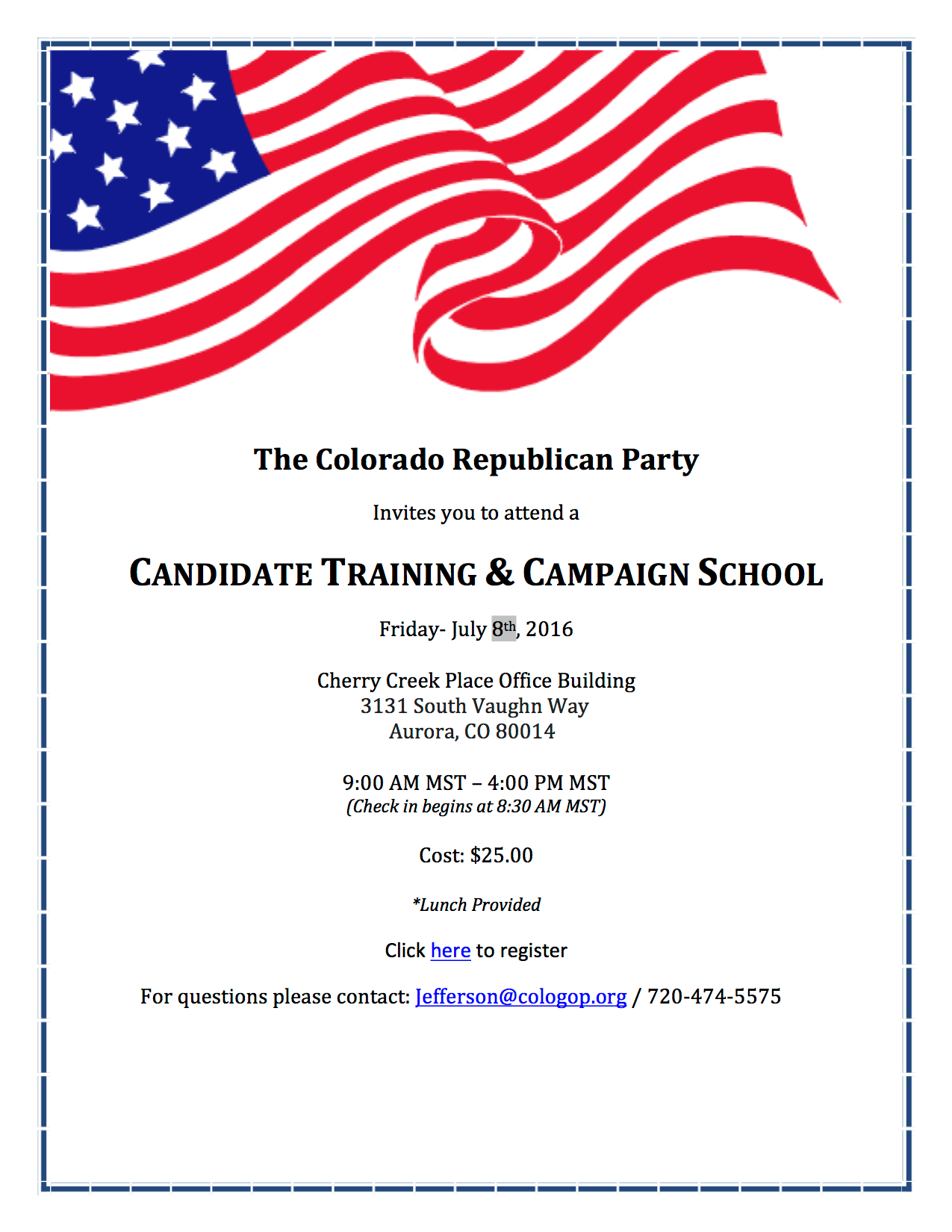 Candidate Training & Campaign School