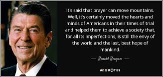 Reagan USA is mankinds best hope