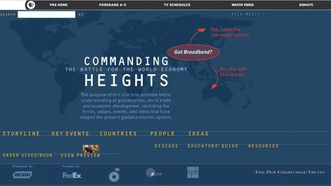 commanding heights on PBS website