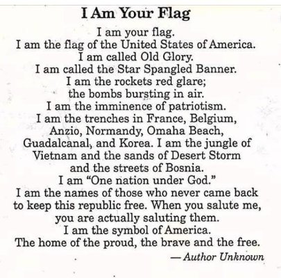 I am your flag